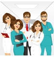 group of medical team professionals vector image vector image