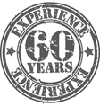 Grunge 60 years of experience rubber stamp vector image vector image