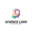 head people with gear logo template brain vector image vector image