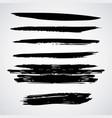 Horizontal ink brush stroke stripes