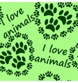 I love animals seamless pattern vector image vector image