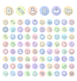 icons line rounded business thin vector image vector image