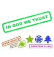 In God We Trust Rubber Stamp vector image vector image
