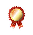 isolated golden round awards trophy on white vector image