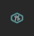 Letter N logo mockup monogram thin line design vector image vector image