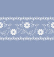 light floral lace white on a blue background vector image vector image
