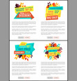 mega discount sale posters vector image vector image