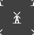 Mill icon sign Seamless pattern on a gray vector image