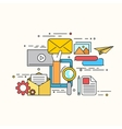 modern flat design of email marketing vector image vector image