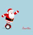 modern santa rides on electro board christmas vector image vector image