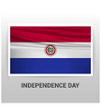 paraguay independence day design vector image