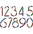 pencil numbers vector image vector image