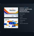 presentation abstract blue orange set of vector image