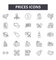 prieces line icons signs set outline vector image vector image