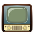 Realistic vintage TV on white background vector image vector image