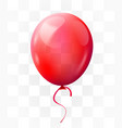 red balloon on transparent background greeting vector image vector image