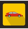 Red car icon in flat style vector image vector image