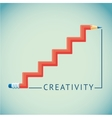 red pencil in shape a ladder vector image