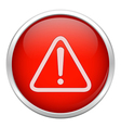 Red warning icon vector image vector image