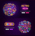 retro website banners vector image vector image