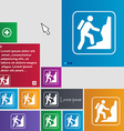 rock climbing icon sign buttons Modern interface vector image