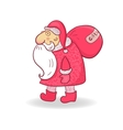 Santa Claus in doodle style on Christmas theme vector image