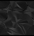 seamless pattern curved lines 3d effect