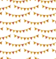 Seamless Pattern with Autumn Bright Buntings vector image