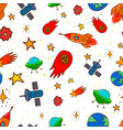 seamless pattern with space design elements vector image
