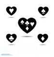 set kit heart icon a symbol of love valentine vector image vector image