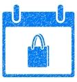 Shopping Bag Calendar Day Grainy Texture Icon vector image vector image