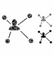 social graph composition icon rugged items vector image vector image