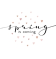 Spring is coming lettering vector image