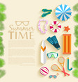summer vecetion time background vector image vector image
