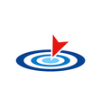 target point logo vector image