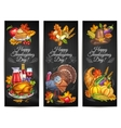thanksgiving day greeting banners posters vector image