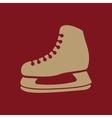 The skates icon Hockey Skates symbol Flat vector image
