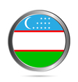 Uzbekistan flag button vector image vector image