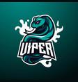 viper mascot logo vector image
