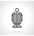 Walking advertisement black line icon vector image vector image