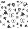 winner seamless pattern medal vector image vector image