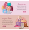 Women s bag shoes and accessories New collection vector image vector image