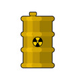 yellow barrel with poisonous waste radioactive vector image