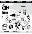 Cinema sign set vector image