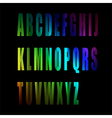 colorful alphabet number vector image