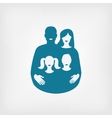 young family concept father and mother with vector image