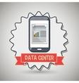 data center smartphone icon vector image