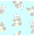 seamless texture of a panda vector image