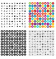 100 working professions icons set variant vector image vector image