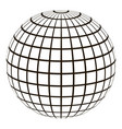 3d globe with a coordinate grid meridian and vector image vector image